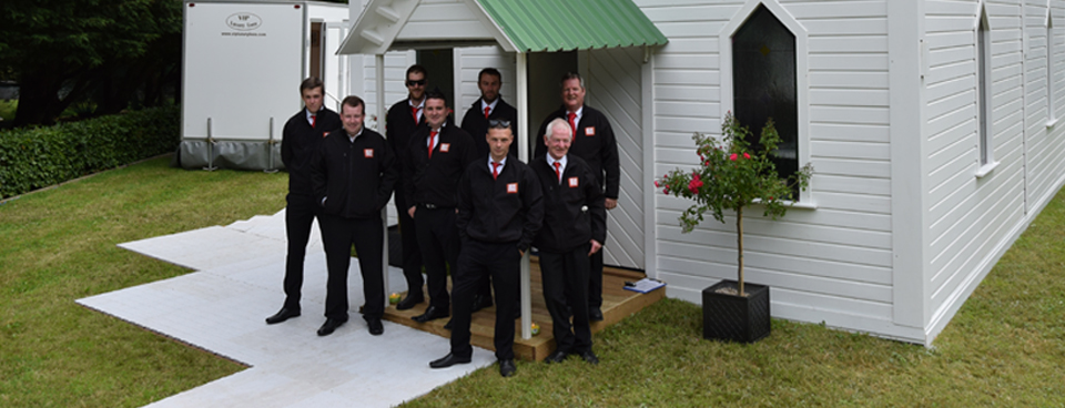 Big Red Barn Staff Members ready to host another event