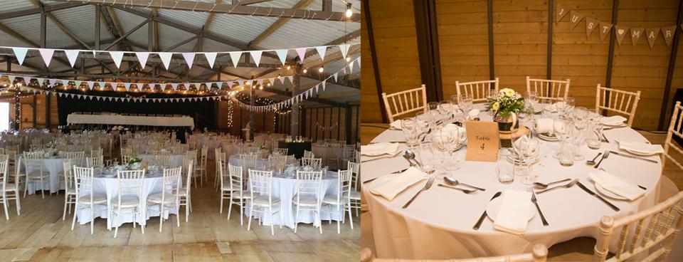 Wedding reception in the Big Red Barn