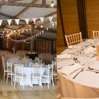 Wedding reception in the Big Red Barn